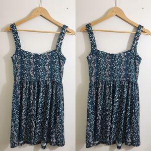 BeBop Floral Sleeveless Mini Blue Dress Size M